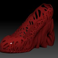 Small High Heel Shoes 3D Printing 34537