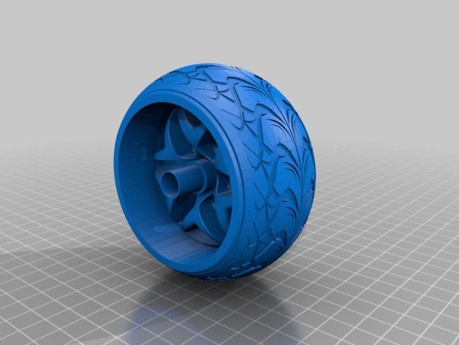 Wheel and Tyre 3D Print 34547