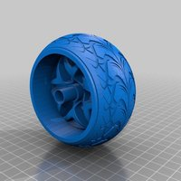 Small Wheel and Tyre 3D Printing 34547