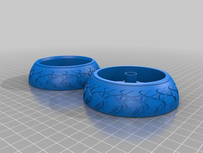 Wheel and Tyre 3D Print 34548