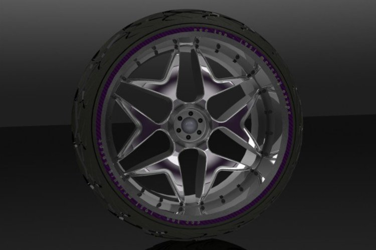Wheel and Tyre 3D Print 34550