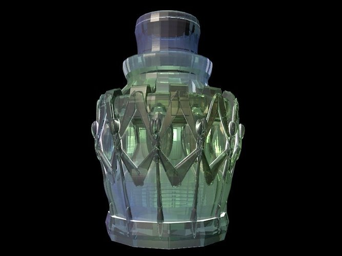 Pharaoh Nectar Bottle 3D Print 34567