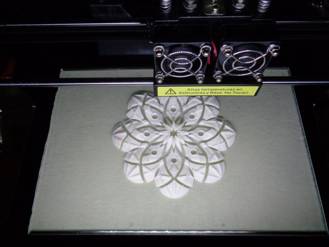 Muladhar-art collection. Mandala eight petals 3D Print 34607