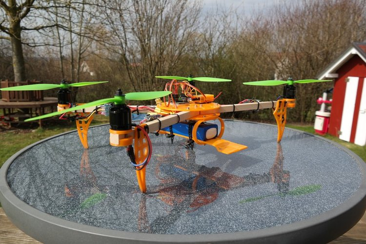 ElectroHub inspired Quadcopter 3D Print 34645