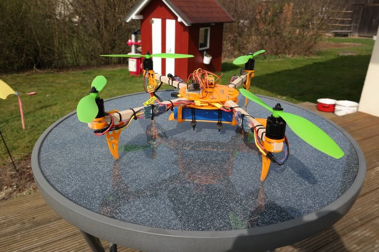 ElectroHub inspired Quadcopter 3D Print 34646