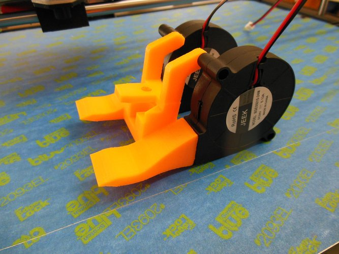 Rigidbot single head cooling fan mount 3D Print 34684