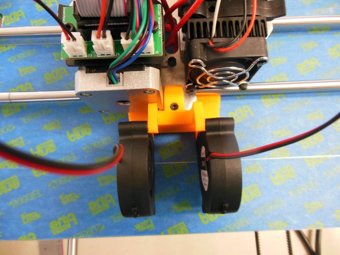 Rigidbot single head cooling fan mount 3D Print 34685