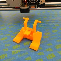 Small Rigidbot dual cooling fan mount 3D Printing 34686