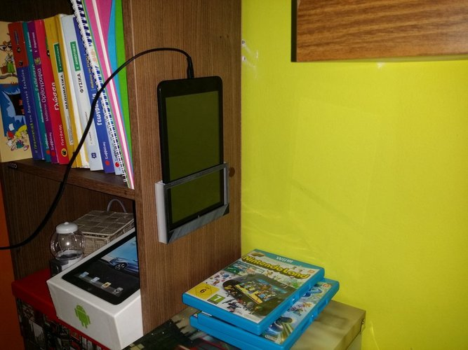 Simple wall mount tablet holder 3D Print 34697