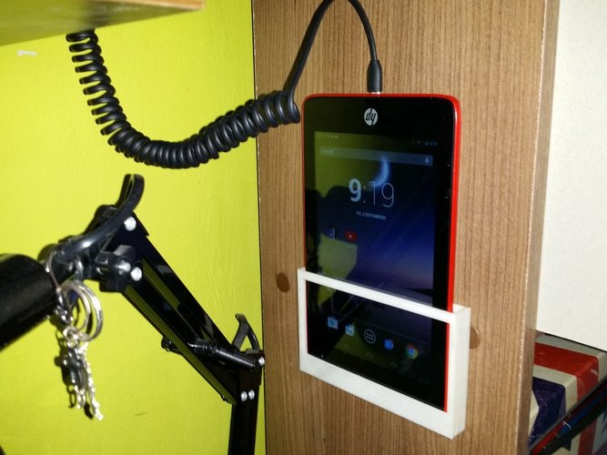 Simple wall mount tablet holder 3D Print 34699
