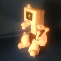 Small Cymon CyBot posable robot toy 3D Printing 3473