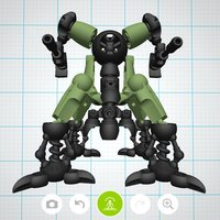 Small Mecha Sentinel - Tinkerplay Toy 02 3D Printing 34772
