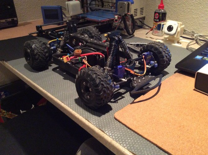 Fully 3D Printable RC Vehicle (Improved from previously posted)  3D Print 34812