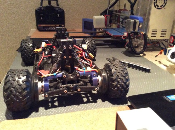 Fully 3D Printable RC Vehicle (Improved from previously posted)  3D Print 34813