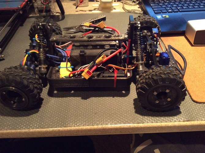 Fully 3D Printable RC Vehicle (Improved from previously posted)  3D Print 34815