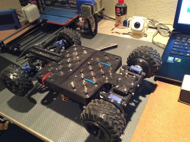 Fully 3D Printable RC Vehicle (Improved from previously posted)  3D Print 34818