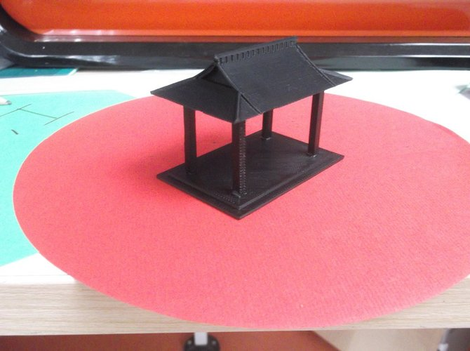 Bird table feeder Japanese inspired 3D Print 34867