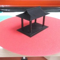 Small Bird table feeder Japanese inspired 3D Printing 34867