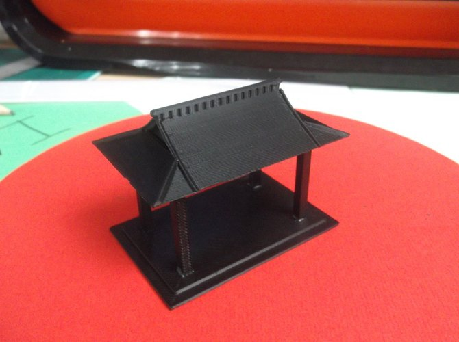 Bird table feeder Japanese inspired 3D Print 34870