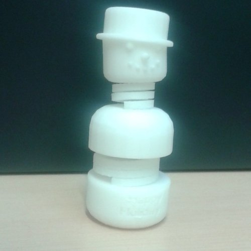 #MakerBotOrnaments ,Snowy the springy snowman 3D Print 34926