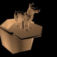 Small Dog's Pill Box 3D Printing 35145