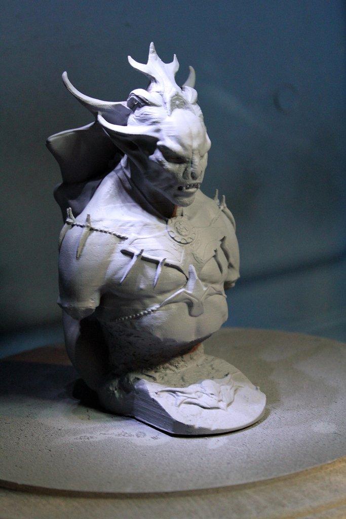 3d Printed Skyrim Dawnguard Vampire Lord By Dennismejillones