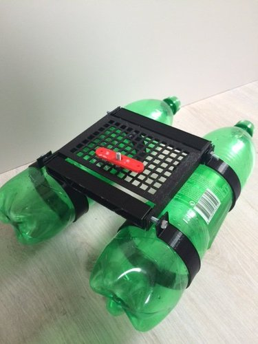 bottleboat with kite 3D Print 35213