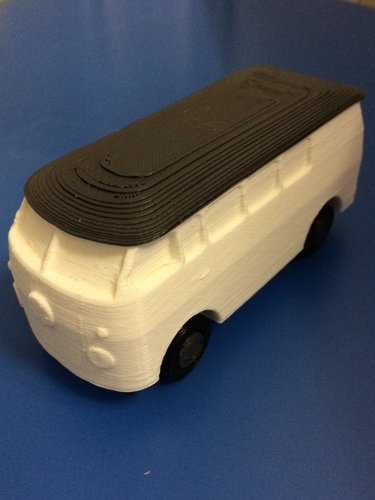 vw bus with turning wheels 3D Print 35258