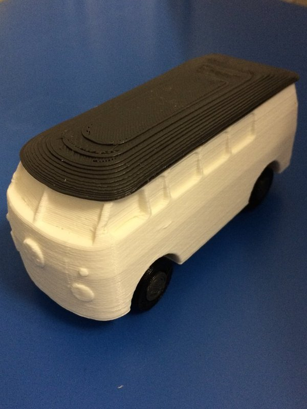 Medium vw bus with turning wheels 3D Printing 35258