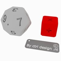 Small  math practice dice 3D Printing 35299