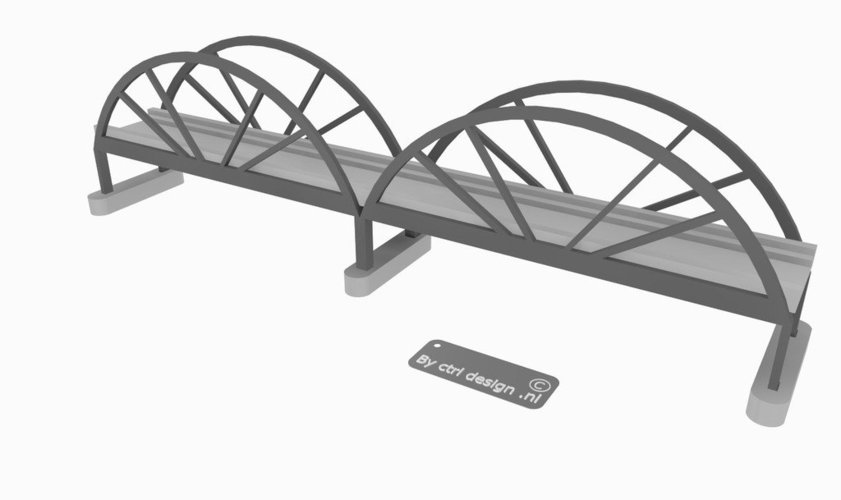 Trainbridge 3D Print 35319