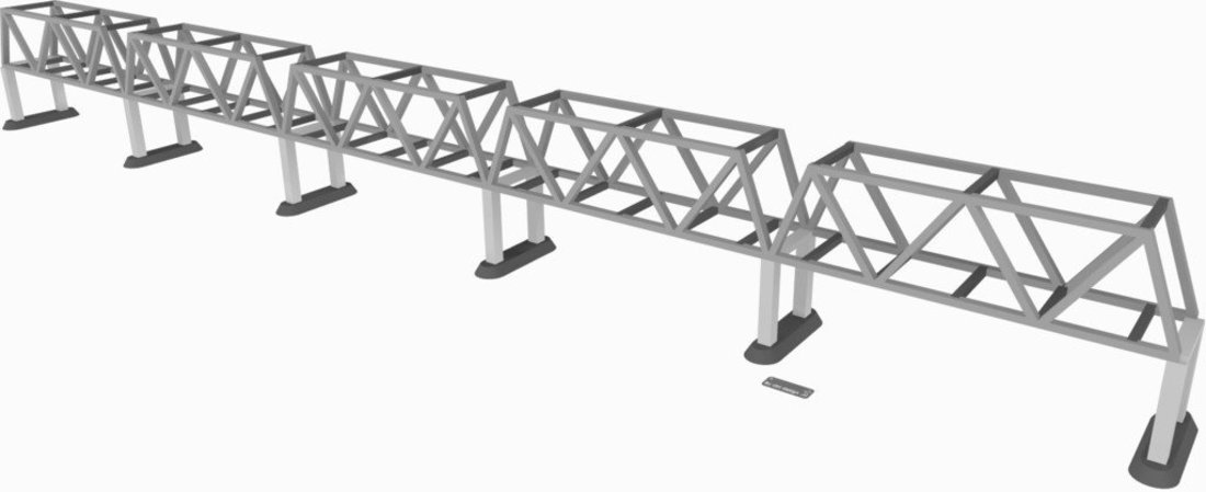 one way bridge 3D Print 35330