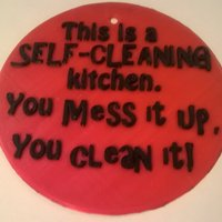 Small Self Cleaning Kitchen Sign 3D Printing 35360