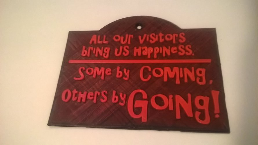 Visitors Bring Happiness 3D Print 35367
