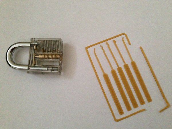 Medium Lock Pick Set Card 3D Printing 35368