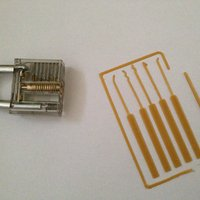 Small Lock Pick Set Card 3D Printing 35368