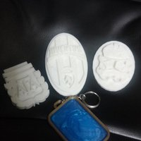 Small Shields and emblems from your favorite teams and themes for keyc 3D Printing 35397