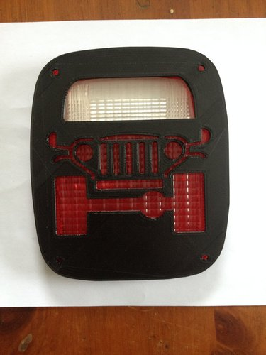 Jeep tail light cover 2 3D Print 35422