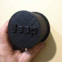 Small Jeep Hub Cover 3D Printing 35432