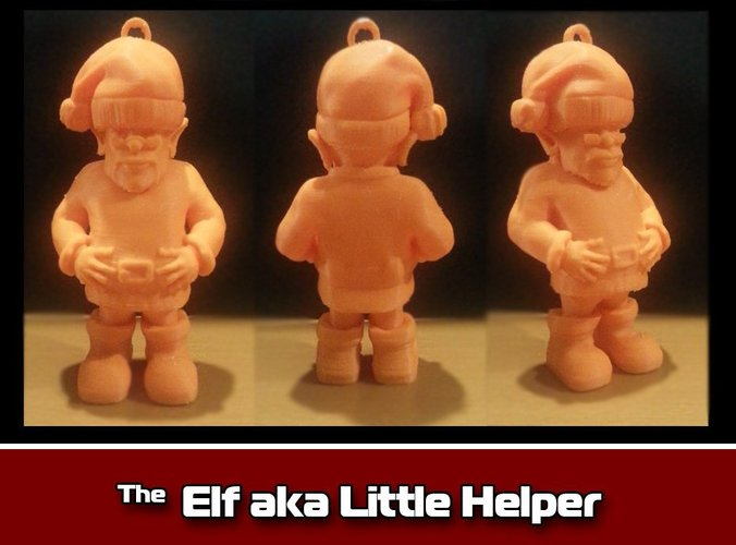The Elf aka Little Helper Ornament 3D Print 35471