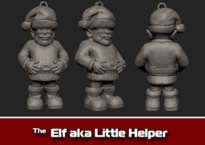 The Elf aka Little Helper Ornament 3D Print 35472