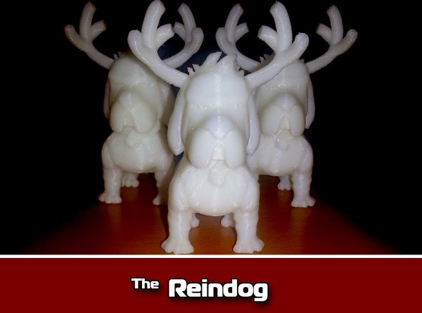 Medium Reindog Ornament 3D Printing 35473