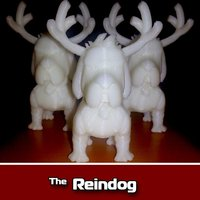 Small Reindog Ornament 3D Printing 35473
