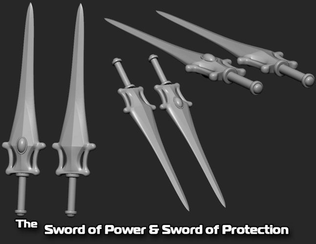 The Sword of Power & Sword of Protection 3D Print 35488