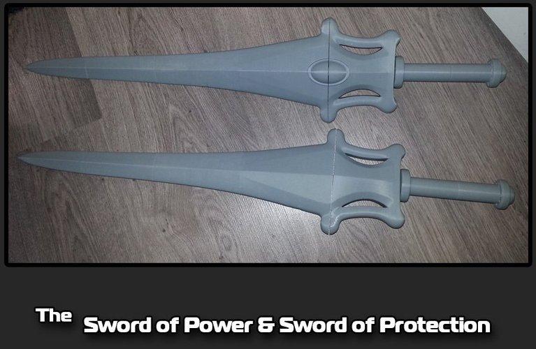 The Sword of Power & Sword of Protection 3D Print 35489