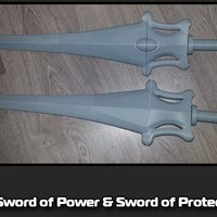 Small The Sword of Power & Sword of Protection 3D Printing 35489