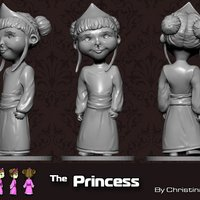 Small The Princess 3D Printing 35493