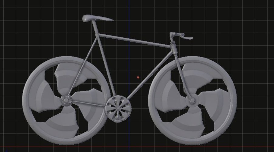 fixed bike negative slooping // bicicleta fixed de slooping nega 3D Print 35527