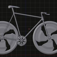 Small fixed bike negative slooping // bicicleta fixed de slooping nega 3D Printing 35527