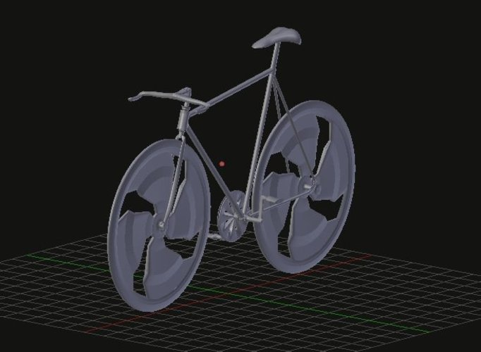 fixed bike negative slooping // bicicleta fixed de slooping nega 3D Print 35528